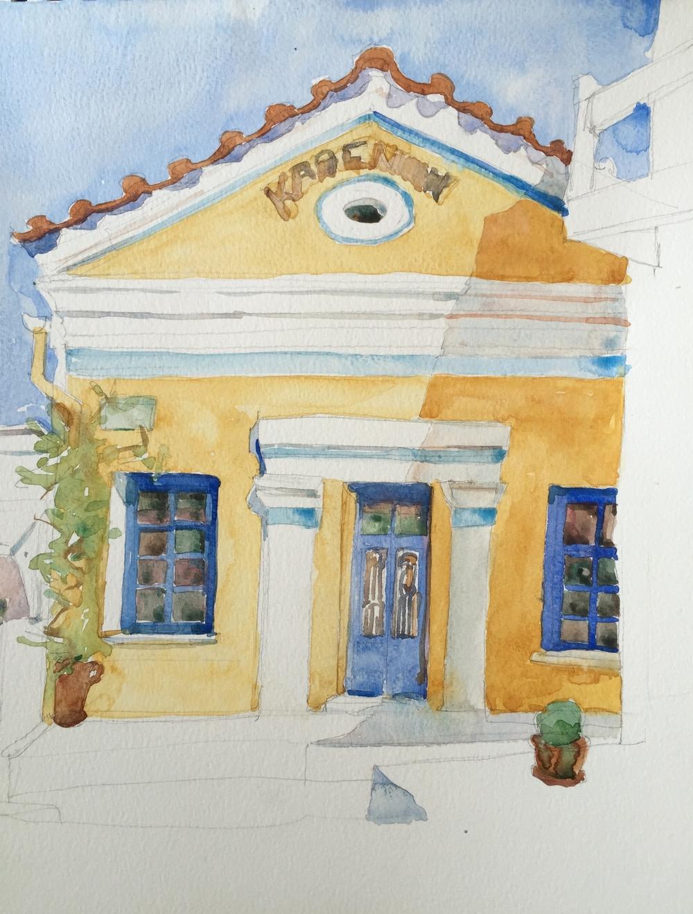 Kafeneion. Lefkes, Paros