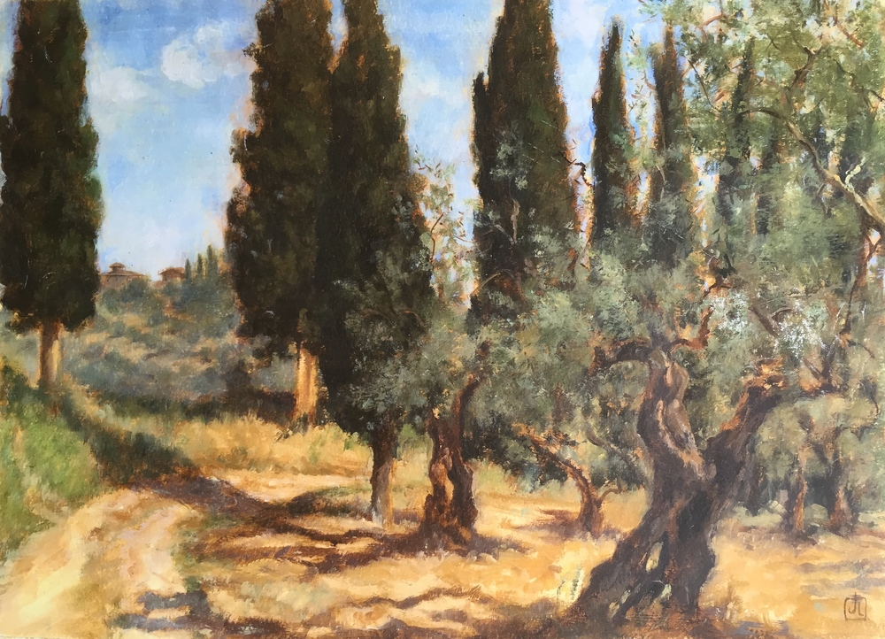 Olives and Cypress, near Florence