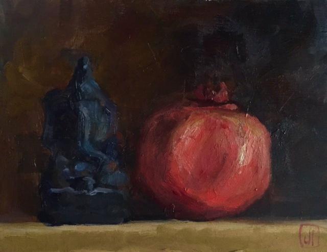 Pomegranate and Little Black Ganesha