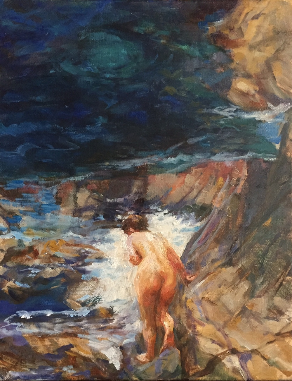 Bather at the Cove, Big Sur
