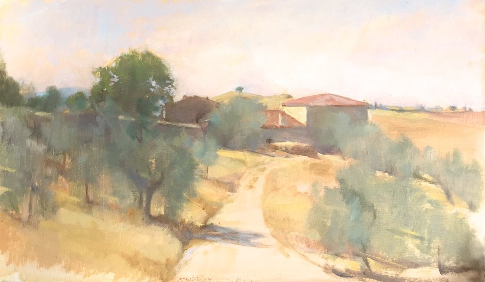 July Noon on a Tuscan farm