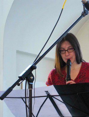 Kotoka Suzuki. Performance of  While Ripples Enlace...  at SinusTon Festival, Germany. Lucia Mense, alto recorder.