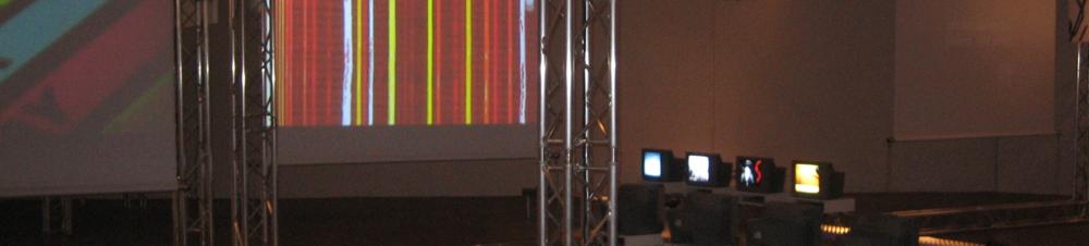 Kotoka Suzuki. Installation of Piano Con Moto (Claudia Rohrmoser, video) at SoundFrame Festival - Künstlerhause K/Haus, Vienna, Austria.