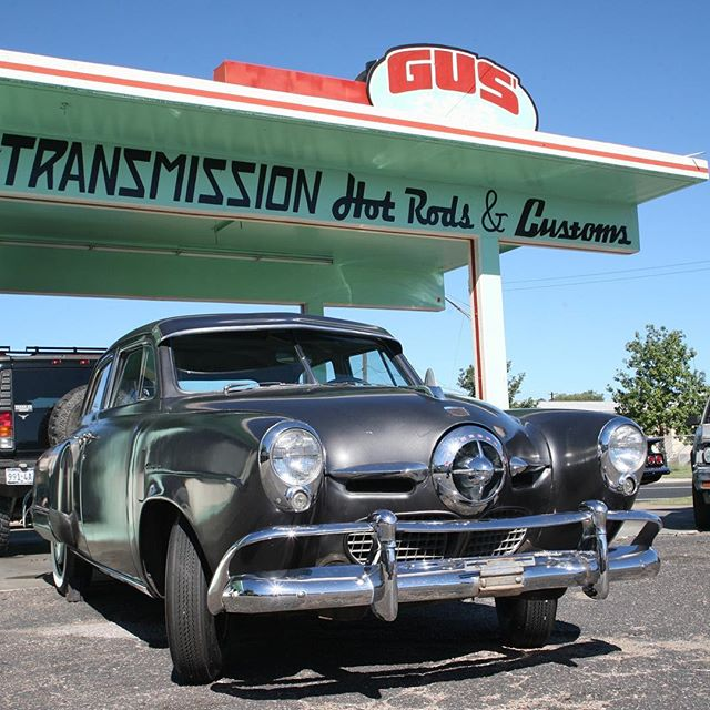 Looking forward to working more with this beaut! This 1950 Studebaker got a disc swap along with some other sweet stuff to smooth out the ride! More coming soon!  #gusgarageatx #performancetransmission #classiccars #hotrods #customclassics #classiccarrestoration #austinclassiccars #oldschoolcool #classicrides #studebakersunday #studebaker