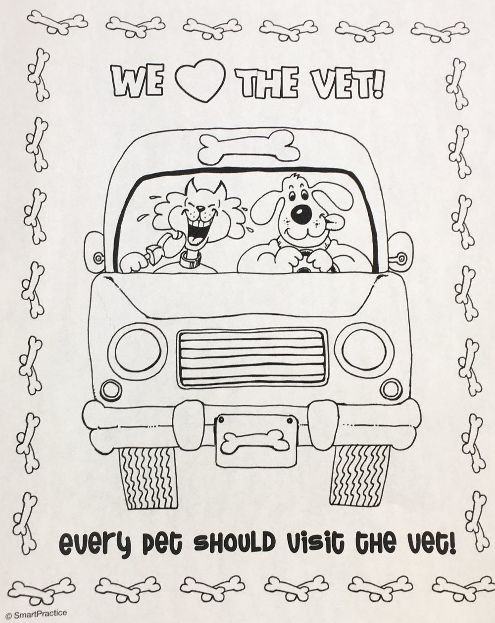 Coloring Pages Deer Park Veterinary
