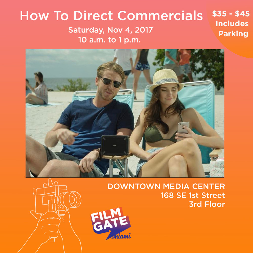 Do you want to become a director of digital commercials for big brands or even local businesses?   Learn how to direct your own digital commercial spec to get noticed with writer, director and producer,  Carlos Gutierrez of No Parachute Films.