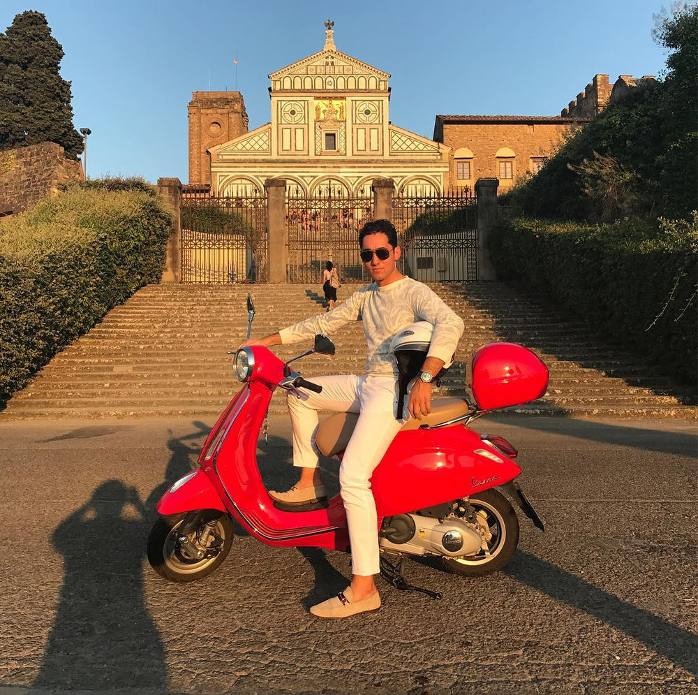 - Gant SweaterGucci ShoesTom Ford SunglassesLocation: Basilica di Santo Spirito Firenze in Florence, Italy