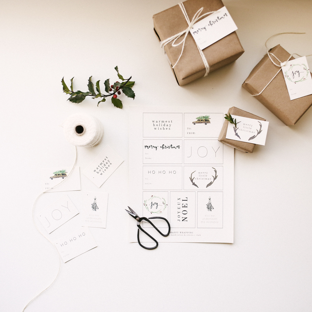 Free Printable - Holiday Gift Tags — Mandi Nelson