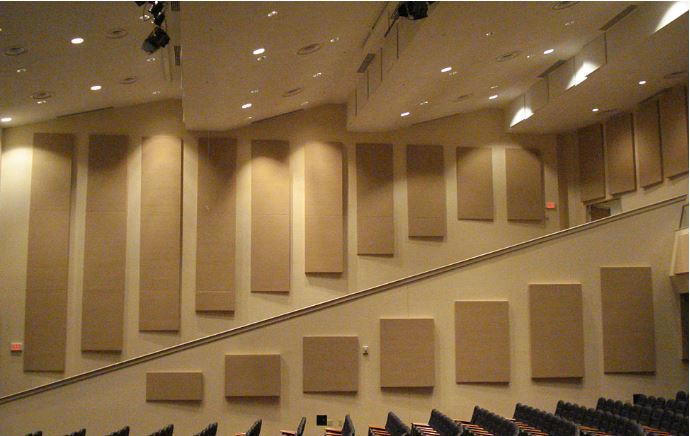 Acoustic Sound Treatment  (Manufacturer Photo). Control the sound in any room for increased speech intelligibility.