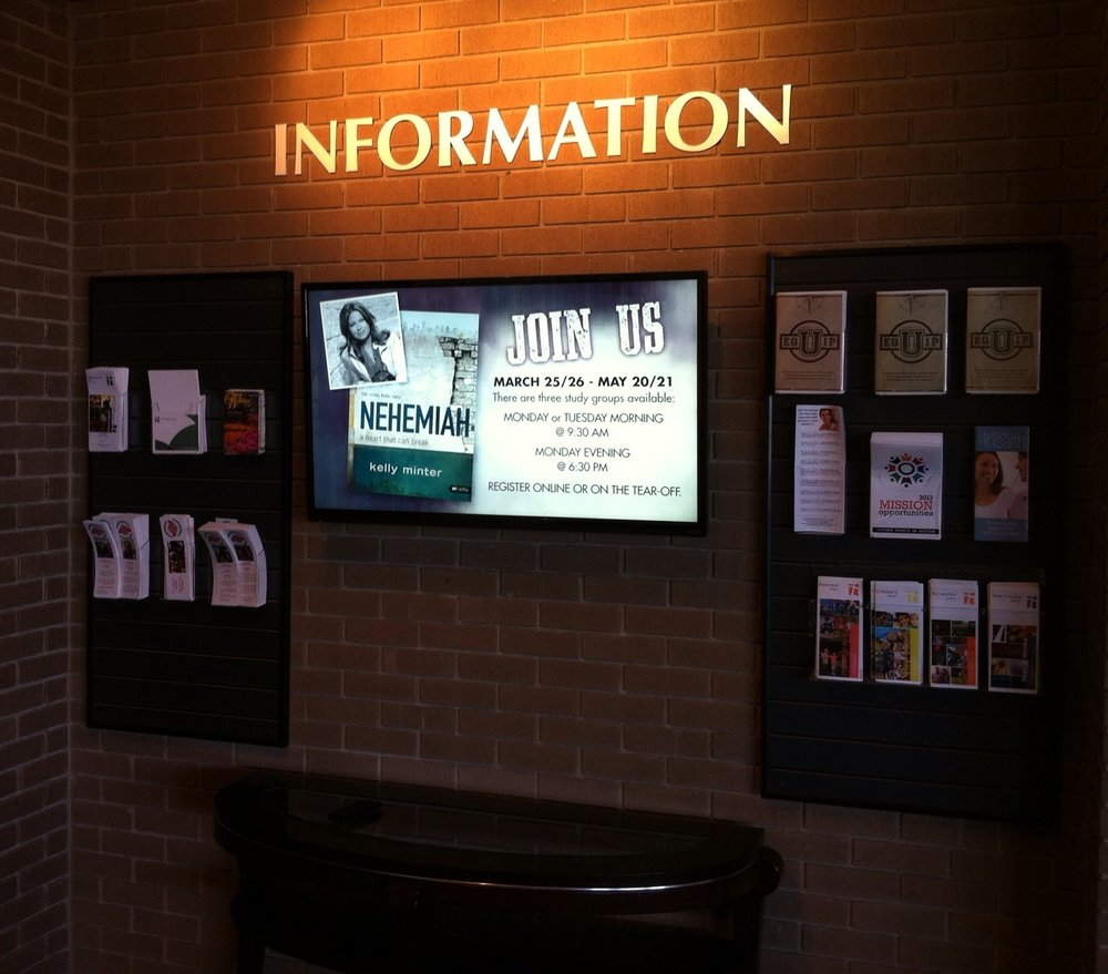 Digital Signage  - Keep members and clients up to date with timely, attractive signage. (Client - Louisville, KY)