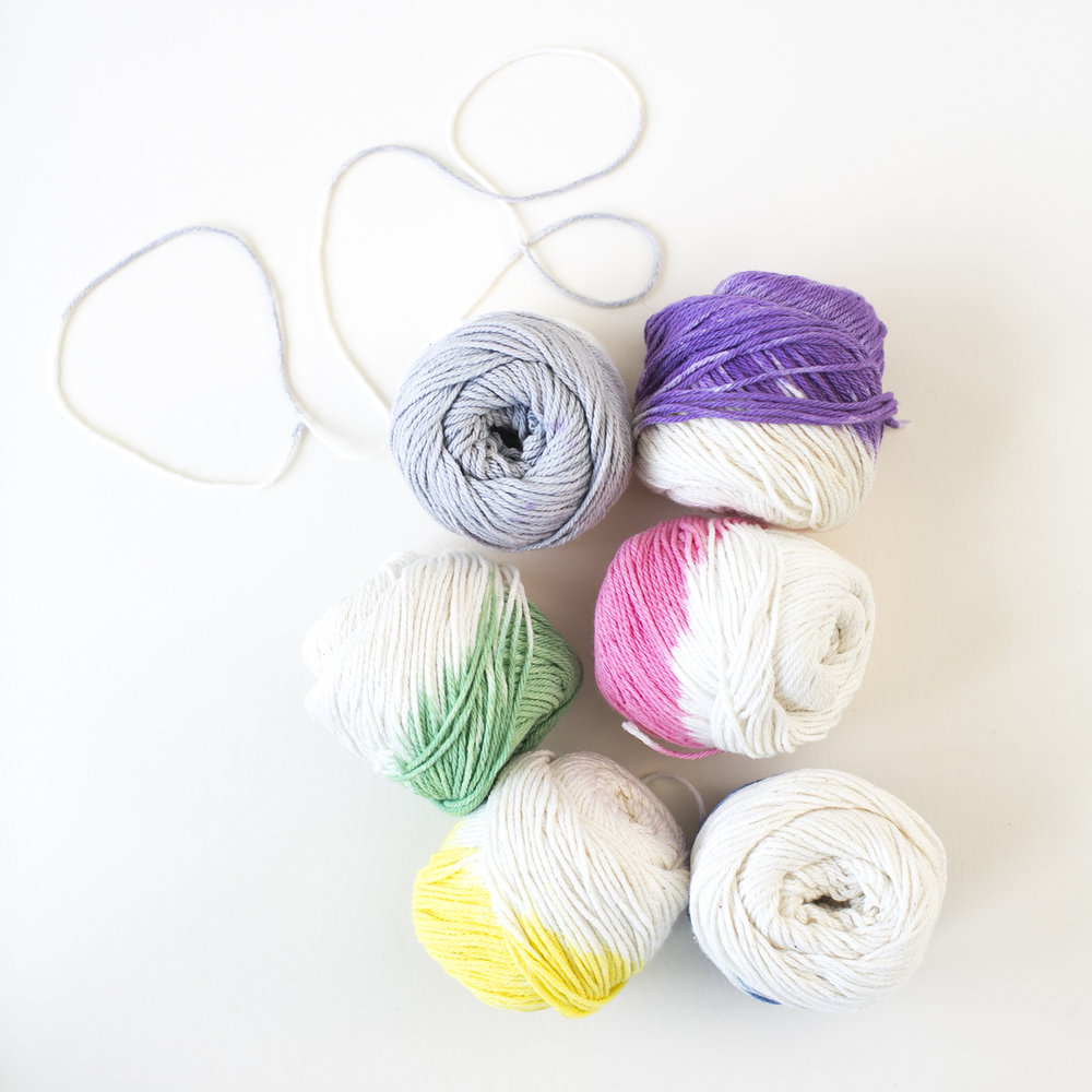 Dip-dyed Yarn  for  Charlotte Lane |   Heidi Geldhauser
