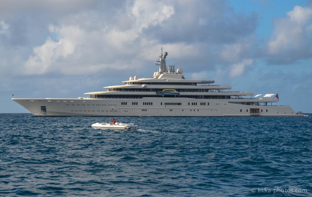 abramovitch - mega yacht - st barth - caribbean - antilles - milliardaire