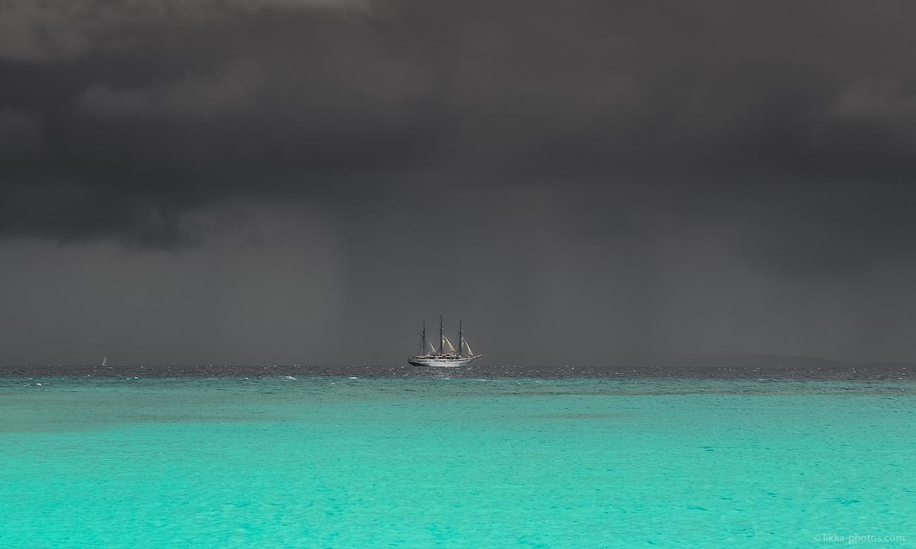 sailing - caribbean - storm - st maarten - anguilla