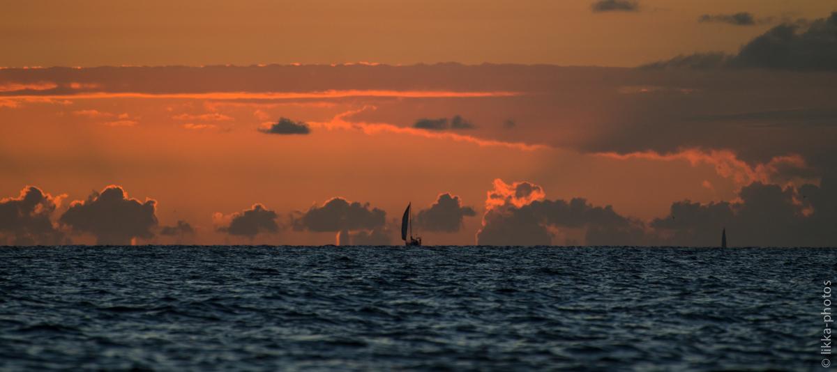 sunset - stmaarten - sailing - boat charter - Caribbean