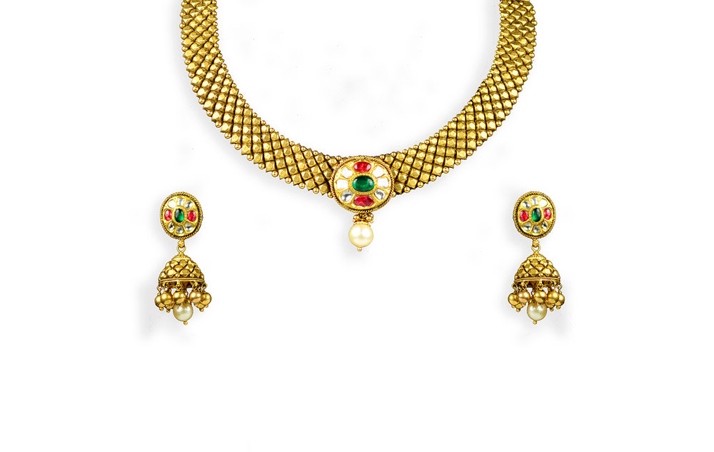 Antique Finish Gold Jewelry