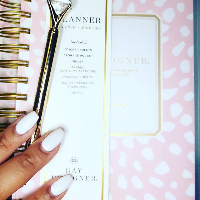 Loving this blush @thedaydesigner from @target as my daily to do list on the go! So lightweight it's perfect when I need to keep my bag as light as possible but need lots of space to write💕 #daydesigner #daydesignerforbluesky #daydesignerplanner #plannerbabe #plannergirl #plannernerd #planneraddict #plannercommunity #bwwpc #plannerpeace #diamondpen