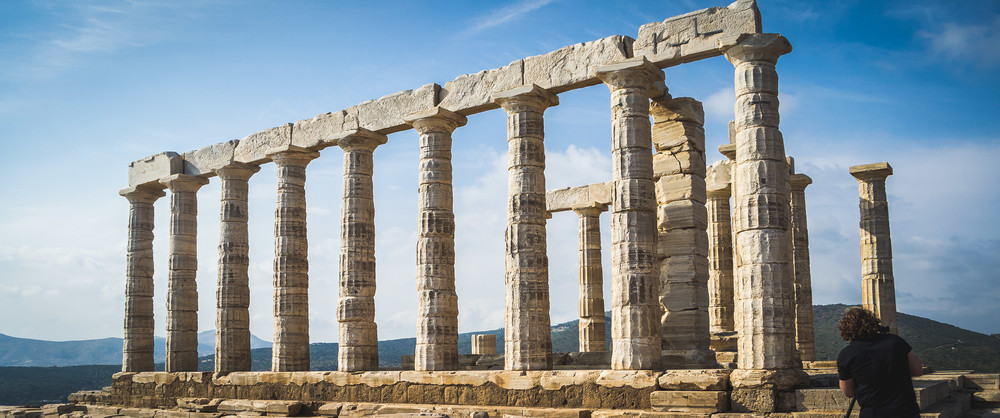 Working on a project next to the Temple of Poseidon in Cape Sounion, Greece | 2013