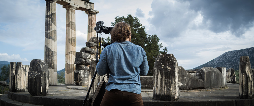 Working on a project below the Sanctuary of Athena in Delphi, Greece | 2013