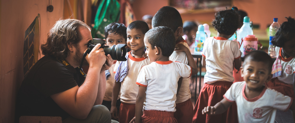 Working on a project with the children of a primary school in Sri Lanka | 2015