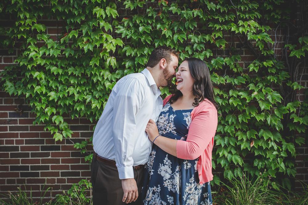Erica and Stephen Green Leaf Wall Ann Arbor MI