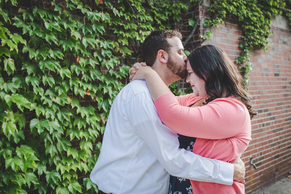 Erica and Stephen Green Leaf Wall Ann Arbor, MI