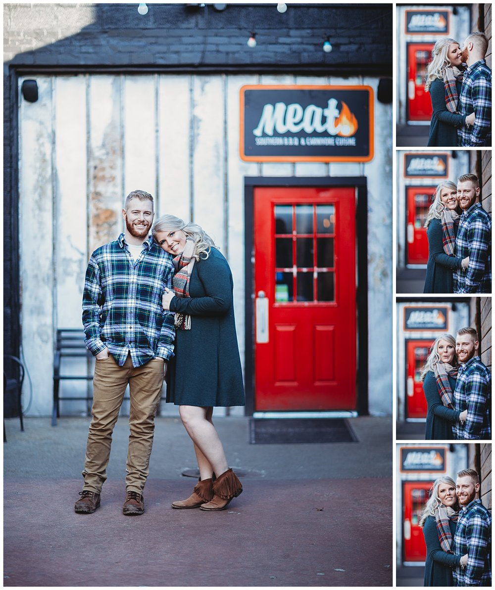 Meat Old Town East Lansing Winter Engagement Session