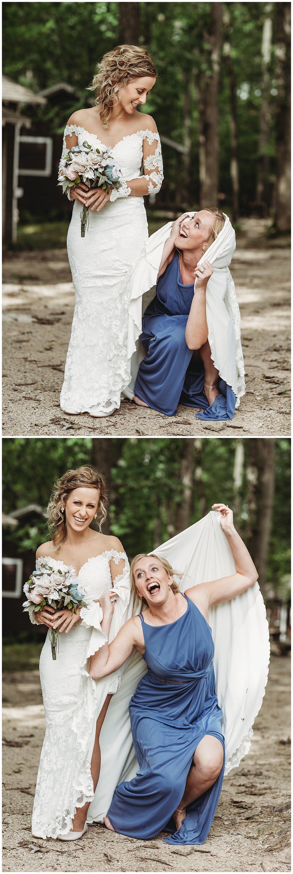 This right here… - is why I LOVE Brides like Sydney. This photo means so much more. This is her sister in law and at her wedding, Sydney did the same under her dress so it HAD to be done when Sydney got married. I just so happened to catch that AMAZING (and funny) last shot. You can tell they were having a GREAT time!!