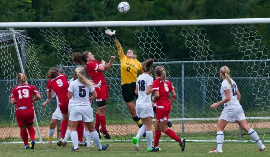 Former Camper and Now Coach Alli making a great save for USCA