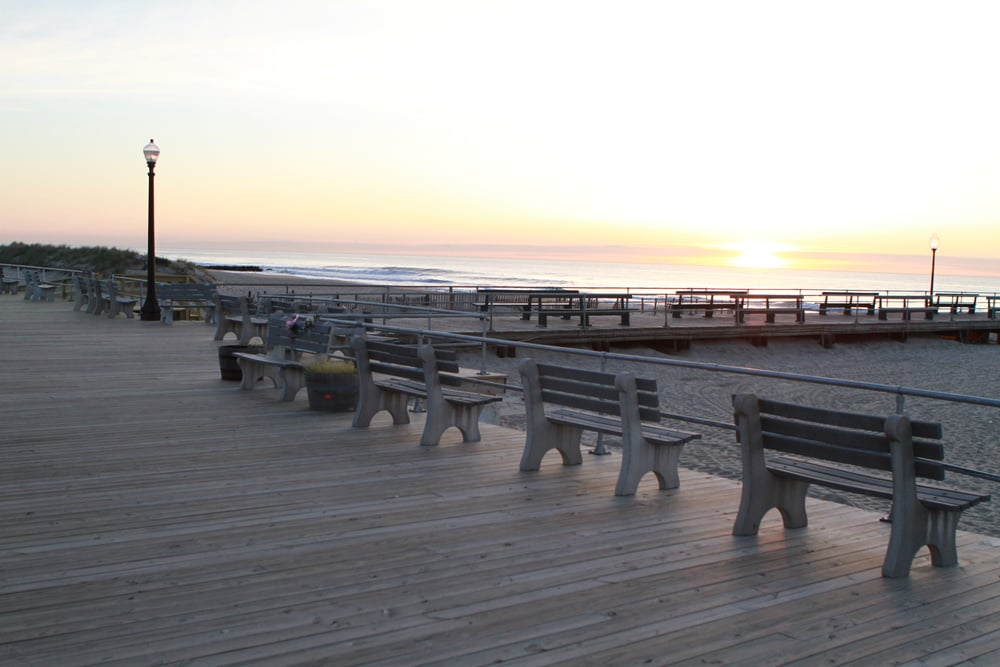 Mornings on the boardwalk in Ocean Grove