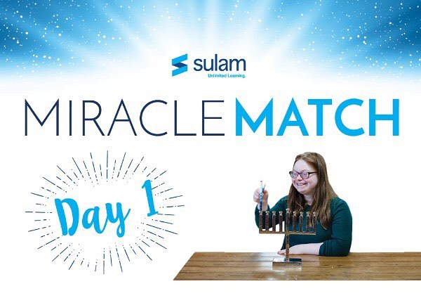#sulammiraclematch #unlimitedlearning  www.sulam.org/match
