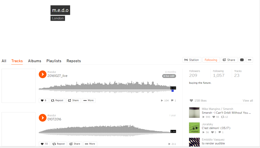 MEDO soundcloud page.PNG