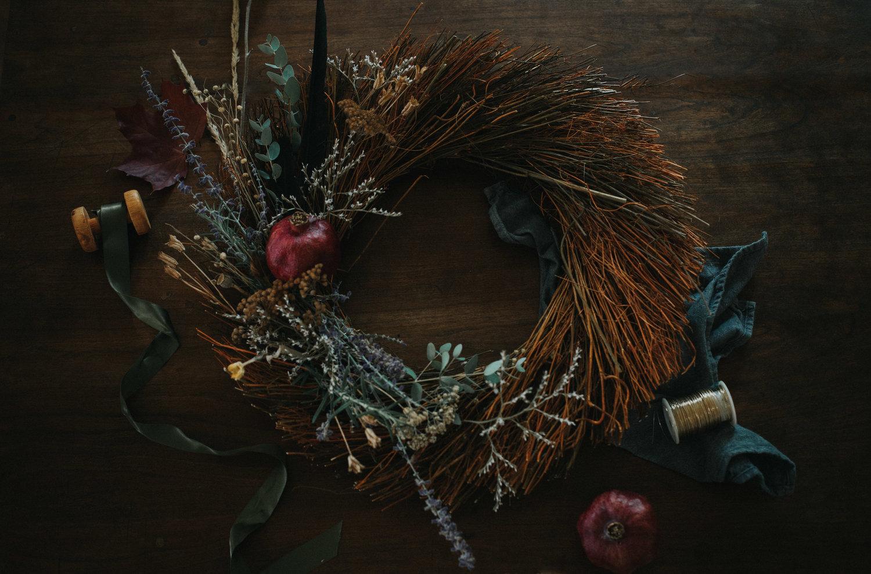 House Spells Diy Samhain Blessing Wreath The Lovely Wild