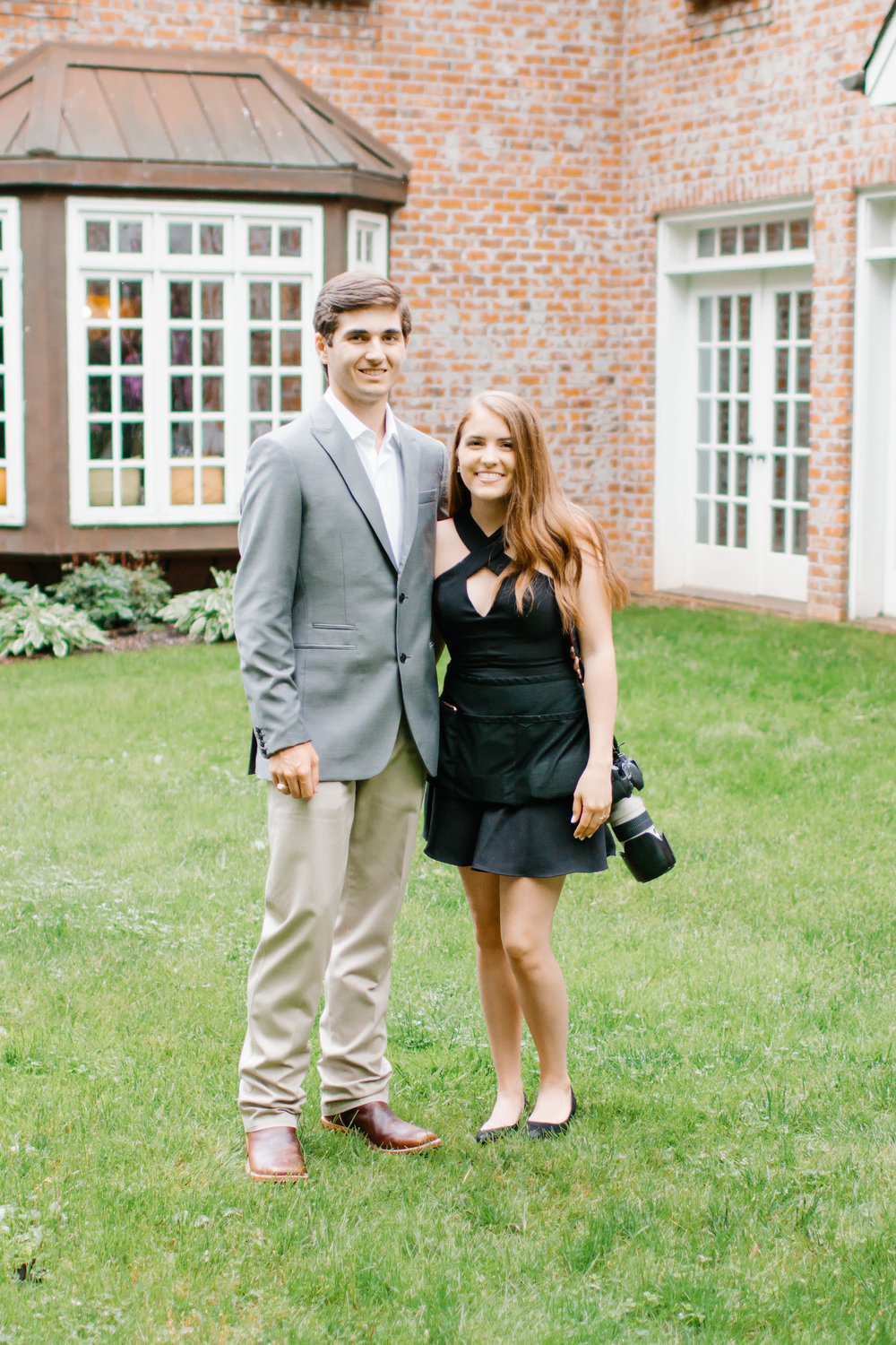 BTS with my cute date at a wedding in NC this year!!