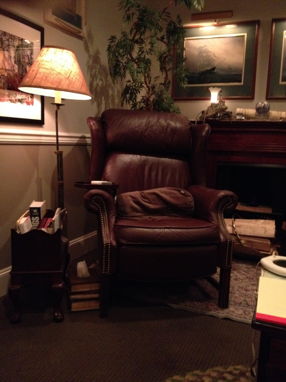 The Big Brown Chair: A tool of the trade.