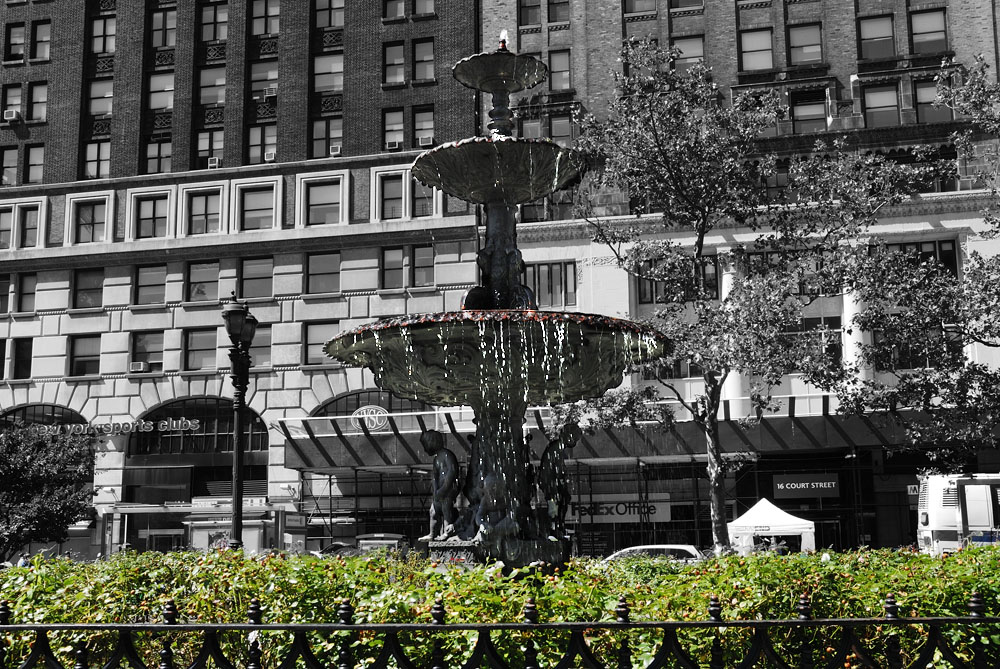 Downtown Brooklyn  |  make a wish and toss a coin in this fountain sitting outside borough hall (not pictured), the oldest public building in downtown brooklyn.    Transportation  | 2/3/4/5/R Train to Borough Hall   Local Eats  | Grab a coffee where the magic all began! The Starbucks at Court St and Joralemon St. was Junket's original meeting place.   Junket Tip  | Toss a coin in the fountain in the plaza found at Court St. and Remsen St.