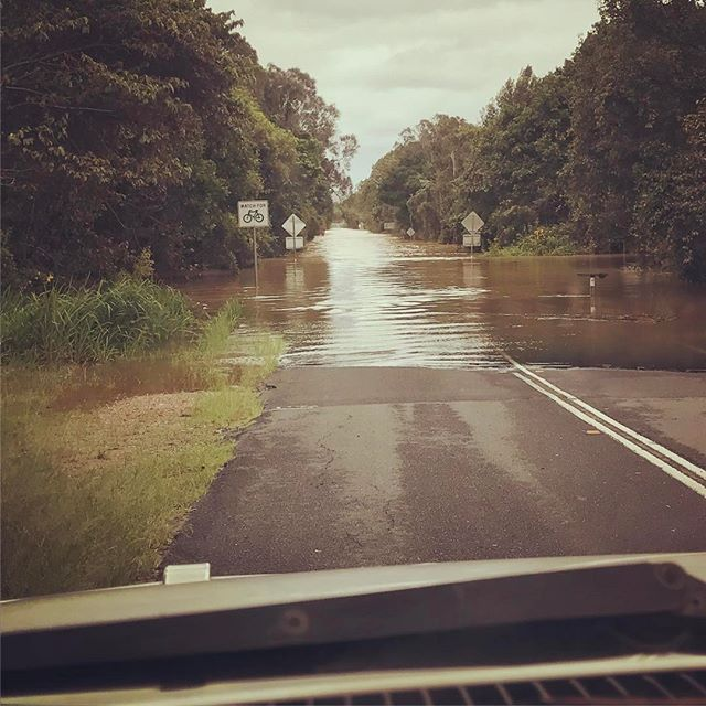 780mm in 24 hours in the Tweed Valley! So much fast moving water over roads. So many houses and businesses under water. Sorry again to all our customers for today, we'll reschedule next week, keep safe everyone. #murwillumbah #cabaritabeach #tweedvalley #tcdebbie #pottsville #hastingspoint #uki #burringbar