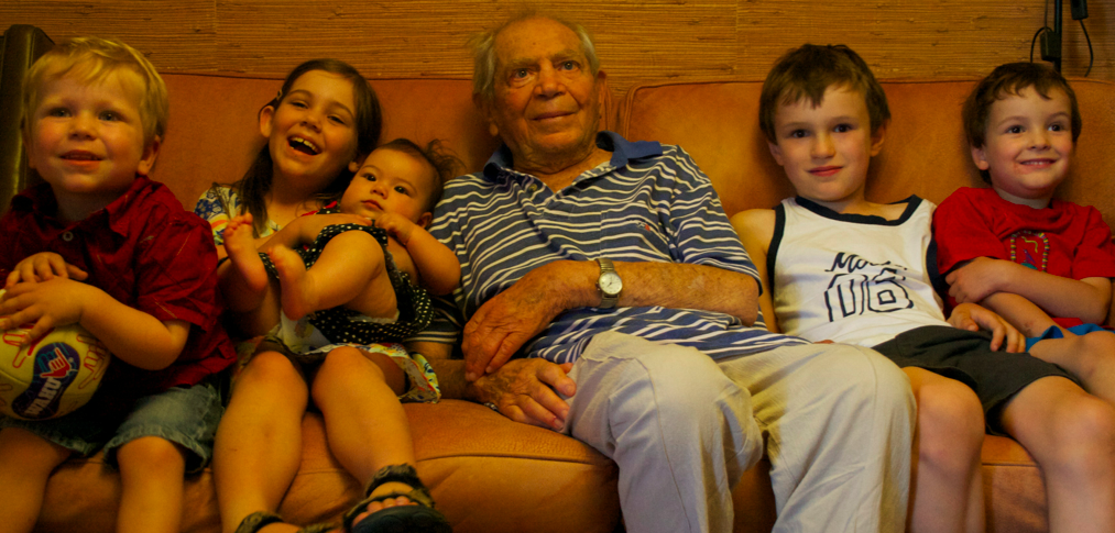 Jerry with his grandchildren