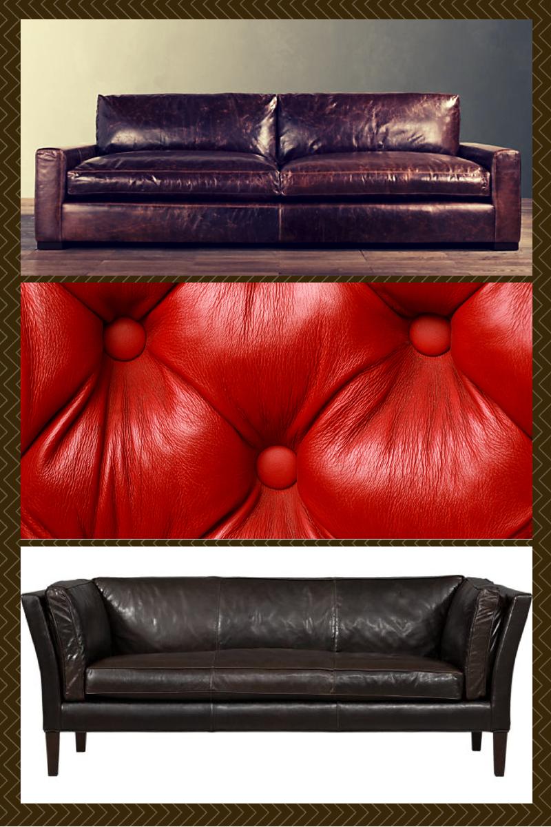 design tip: choose a leather sofa for a shedding dog