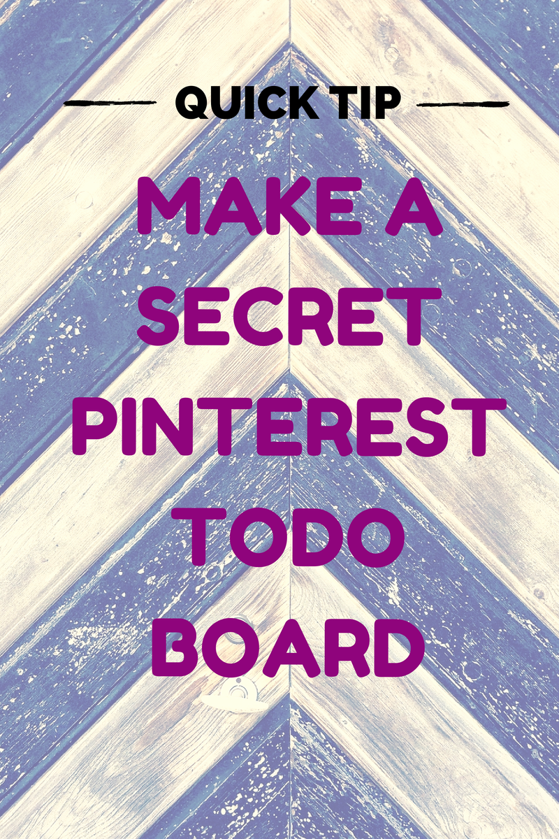 Design tip: make a secret interior design todo board