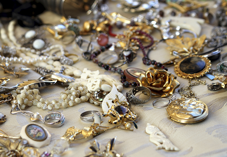 Vintage Jewelry from the Pasadena City College flea market