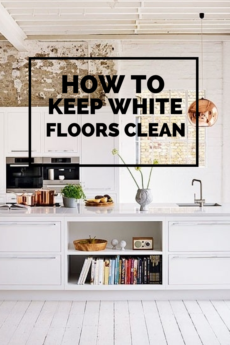 how to keep white floors clean