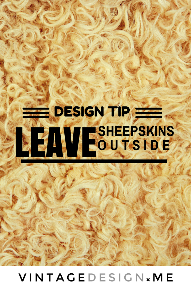 Quick design tip: leave your faux sheepskin rugs outside to make them  look more real
