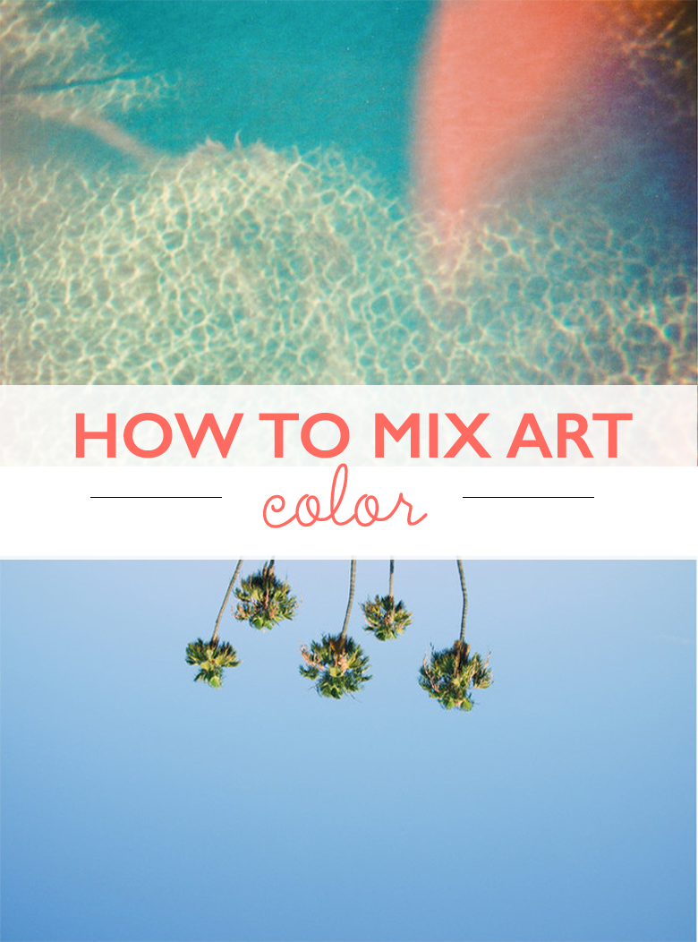 great tips on how to mix art by color