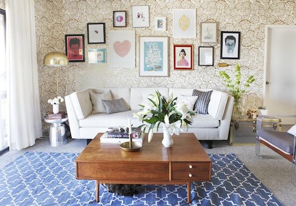area rug on carpet