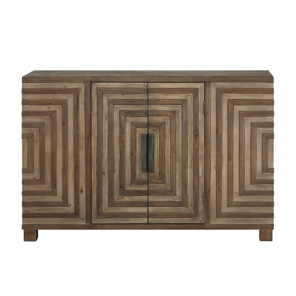 Uttermost Layton Geometric Console Cabinet, $699