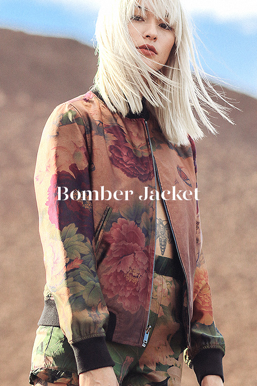 Reversible Bomber - 100% hand-dyed Ziran silk. Handmade in Los Angeles.