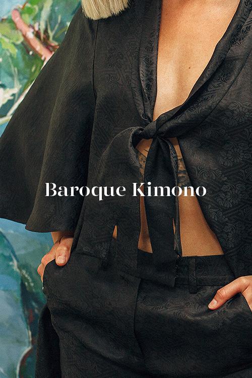 Baroque Kimono - 100% hand-dyed Ziran silk. Handmade in Los Angeles.