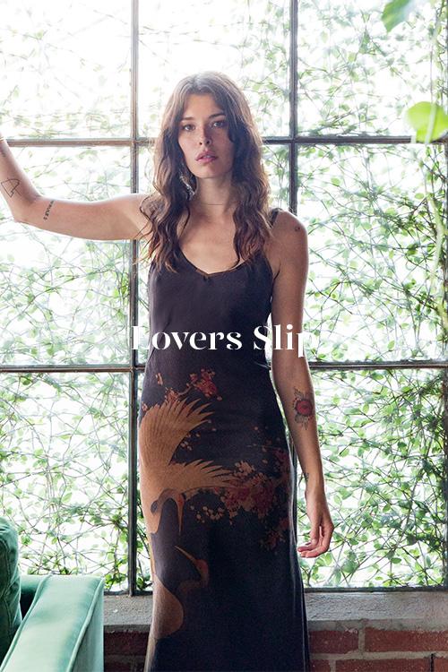 Lovers Bias Slip - 100% hand-dyed Ziran silk. Handmade in Los Angeles.