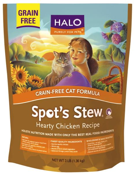 halo cat spot s stew grain free kibble chicken