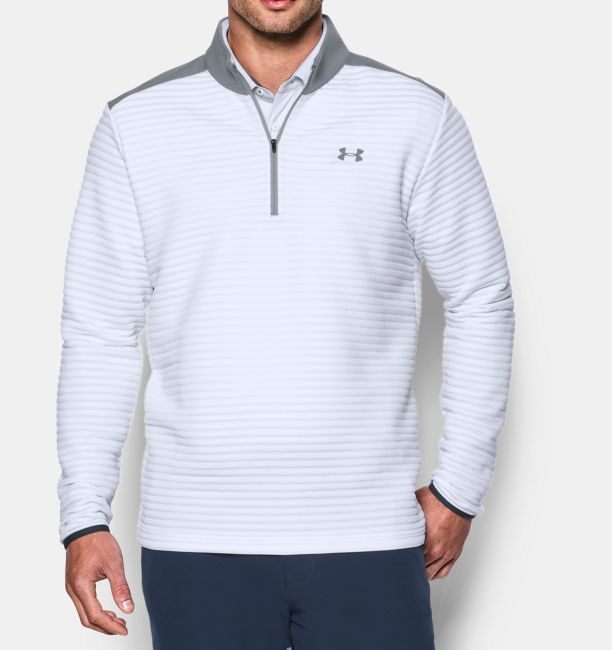 UA Ribbed Zip $90